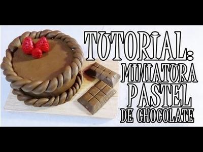 ARCILLA POLIMÉRICA: MINIATURA PASTEL DE CHOCOLATE ♥ #FamiliaCreativa