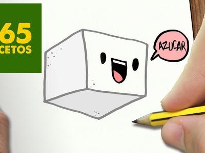 COMO DIBUJAR AZUCAR KAWAII PASO A PASO - Dibujos kawaii faciles - How to draw a sugar