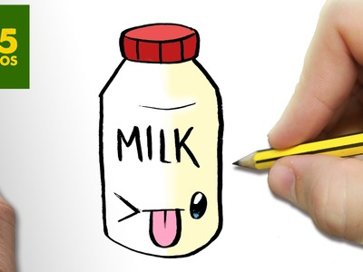 COMO DIBUJAR BOTE LECHE KAWAII PASO A PASO - Dibujos kawaii faciles - How to draw a MILK