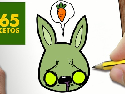 COMO DIBUJAR CONEJO ZOMBIE KAWAII PASO A PASO - Dibujos kawaii faciles - How to draw a RABIT ZOMBIE