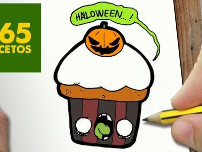 COMO DIBUJAR CUPCAKE HALLOWEEN KAWAII PASO A PASO - Dibujos kawaii faciles - How to draw a Cupcake