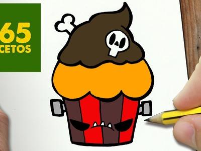 COMO DIBUJAR CUPCAKE ZOMBIE KAWAII PASO A PASO - Dibujos kawaii faciles - draw a cupcake zombie