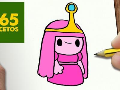 COMO DIBUJAR DULCE PRINCESA KAWAII PASO A PASO - Dibujos kawaii faciles - draw princess Bubblegum