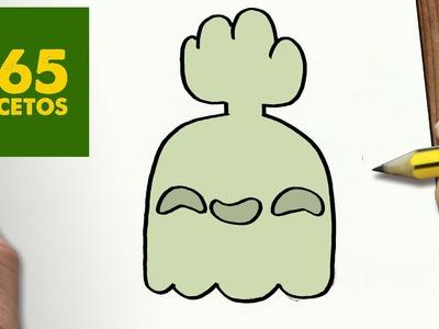 COMO DIBUJAR FANTASMIN KAWAII PASO A PASO - Dibujos kawaii faciles - How to draw Hi-Five Ghost