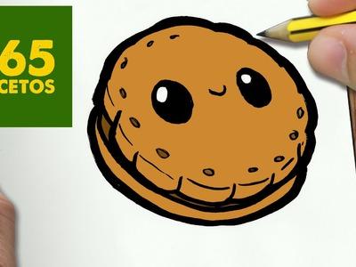 COMO DIBUJAR GALLETA KAWAII PASO A PASO - Dibujos kawaii faciles - How to draw a Cookie
