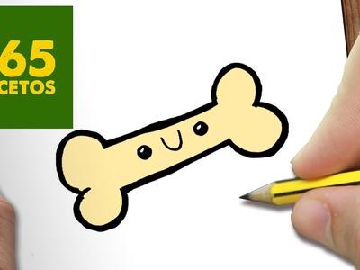 COMO DIBUJAR HUESO KAWAII PASO A PASO - Dibujos kawaii faciles - How to draw a BONE