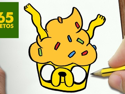 COMO DIBUJAR JAKE CUPCAKE KAWAII PASO A PASO - Dibujos kawaii faciles - How to draw JAKE CUPCAKE