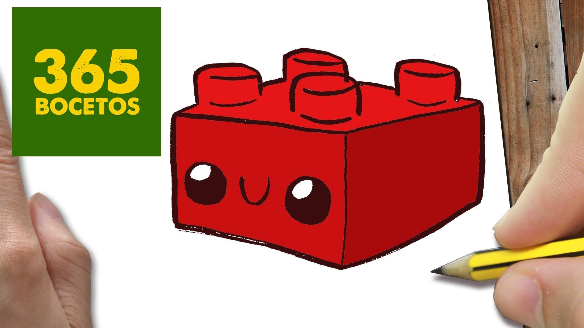 Como Hacer La Libreta De Dibujo De Marinette Prodigiosa: COMO DIBUJAR LEGO KAWAII PASO A PASO