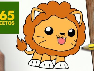 COMO DIBUJAR LEON KAWAII PASO A PASO - Dibujos kawaii faciles - How to draw a lion