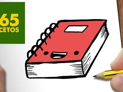 COMO DIBUJAR LIBRETA KAWAII PASO A PASO - Dibujos kawaii faciles - How to draw a NOTEBOOK