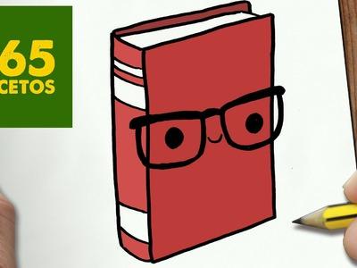 COMO DIBUJAR LIBRO KAWAII PASO A PASO - Dibujos kawaii faciles - How to draw a BOOK