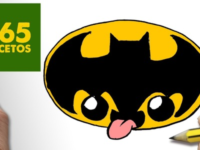 COMO DIBUJAR LOGO BATMAN KAWAII PASO A PASO - Dibujos kawaii faciles - How to draw a LOGO BATMAN
