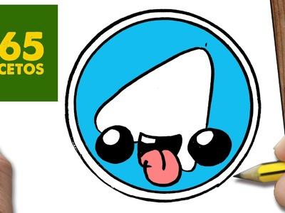 COMO DIBUJAR LOGO TELEGRAM KAWAII PASO A PASO - Dibujos kawaii faciles - How to draw a Logo Telegram