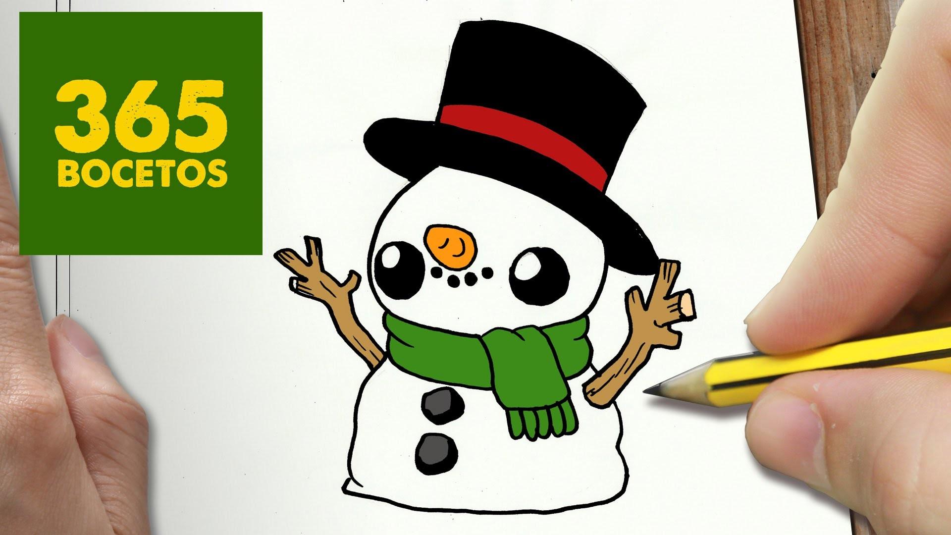Como dibujar mu eco de nieve kawaii paso a paso dibujos for Comedor facil de dibujar