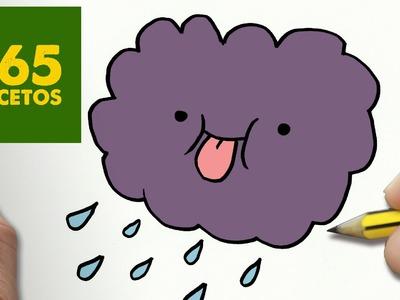COMO DIBUJAR NUBE KAWAII PASO A PASO - Dibujos kawaii faciles - How to draw a cloud