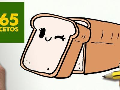COMO DIBUJAR PAN KAWAII PASO A PASO - Dibujos kawaii faciles - How to draw a LOAF