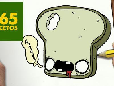 COMO DIBUJAR PAN ZOMBIE KAWAII PASO A PASO - Dibujos kawaii faciles - How to draw a BREAD ZOMBIE