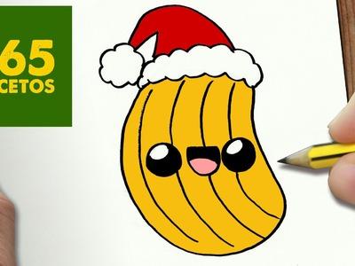 COMO DIBUJAR PATATA FRITA PARA NAVIDAD PASO A PASO: Dibujos kawaii navideños - How to draw a potato