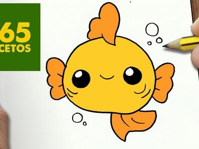 COMO DIBUJAR PEZ KAWAII PASO A PASO - Dibujos kawaii faciles - How to draw a fish