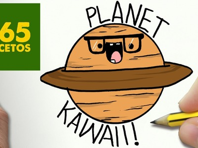 COMO DIBUJAR PLANETA KAWAII PASO A PASO - Dibujos kawaii faciles - How to draw a PLANET