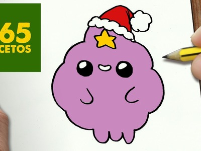COMO DIBUJAR PRINCESA GRUMOSA PARA NAVIDAD PASO A PASO: Dibujos kawaii navideños - Lumpy Princess