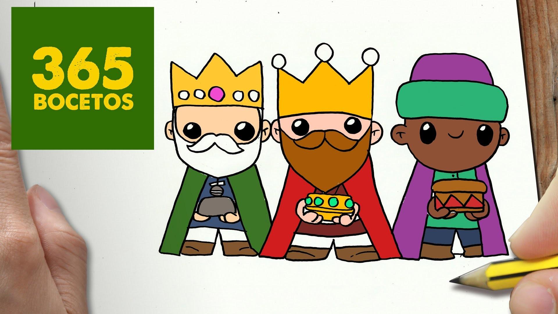 COMO DIBUJAR REYES MAGOS PARA NAVIDAD PASO A PASO: Dibujos