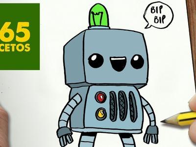 COMO DIBUJAR ROBOT KAWAII PASO A PASO - Dibujos kawaii faciles - How to draw a Robot