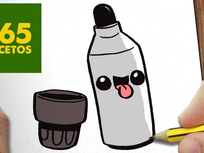 COMO DIBUJAR ROTULADOR KAWAII PASO A PASO - Dibujos kawaii faciles - How to draw a Marker