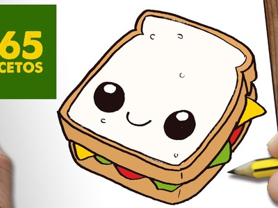 COMO DIBUJAR SANDWICH KAWAII PASO A PASO - Dibujos kawaii faciles - How to draw a Sandwich