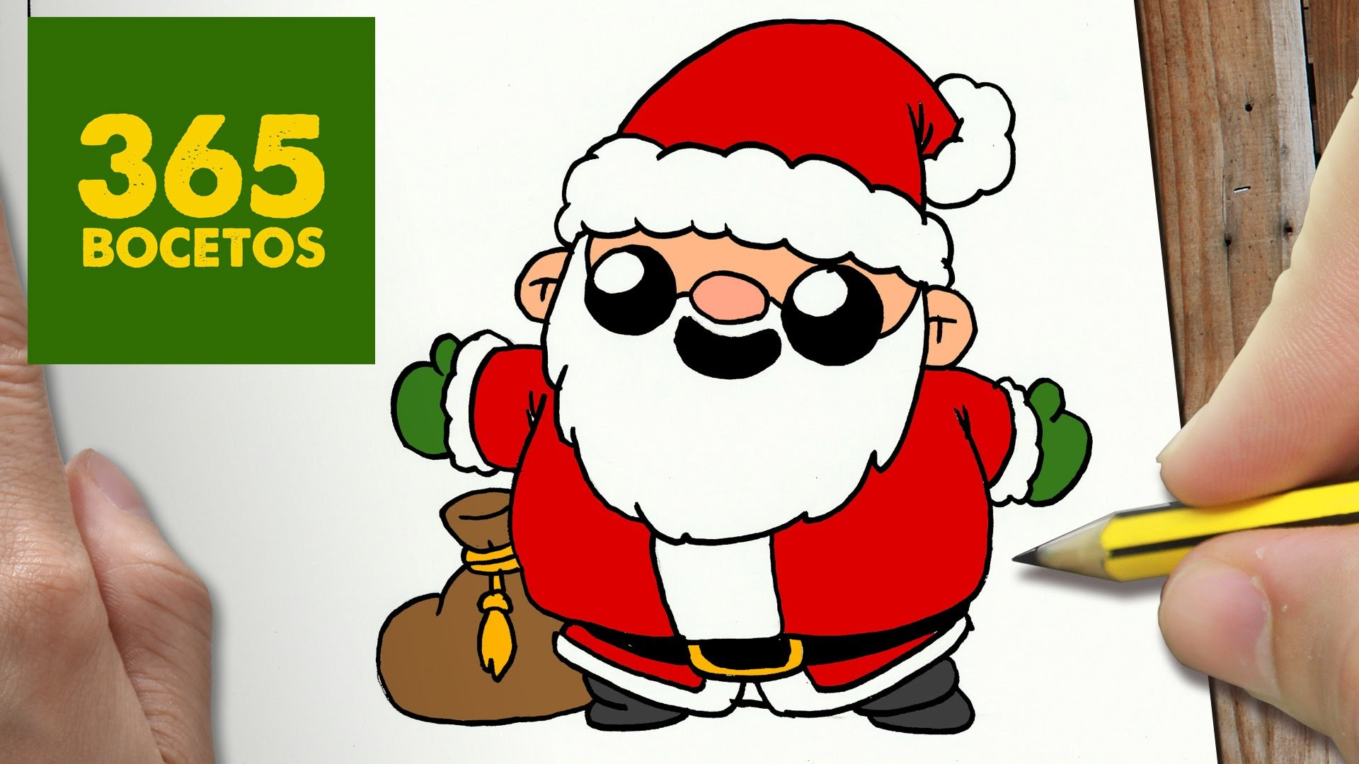 Como Dibujar Santa Claus Kawaii Paso A Paso Dibujos Kawaii Faciles