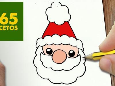 COMO DIBUJAR SANTA CLAUS PARA NAVIDAD PASO A PASO: Dibujos kawaii navideños - draw a Santa Claus