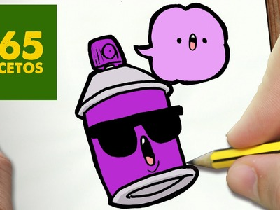 COMO DIBUJAR SPRAY KAWAII PASO A PASO - Dibujos kawaii faciles - How to draw a SPRAY
