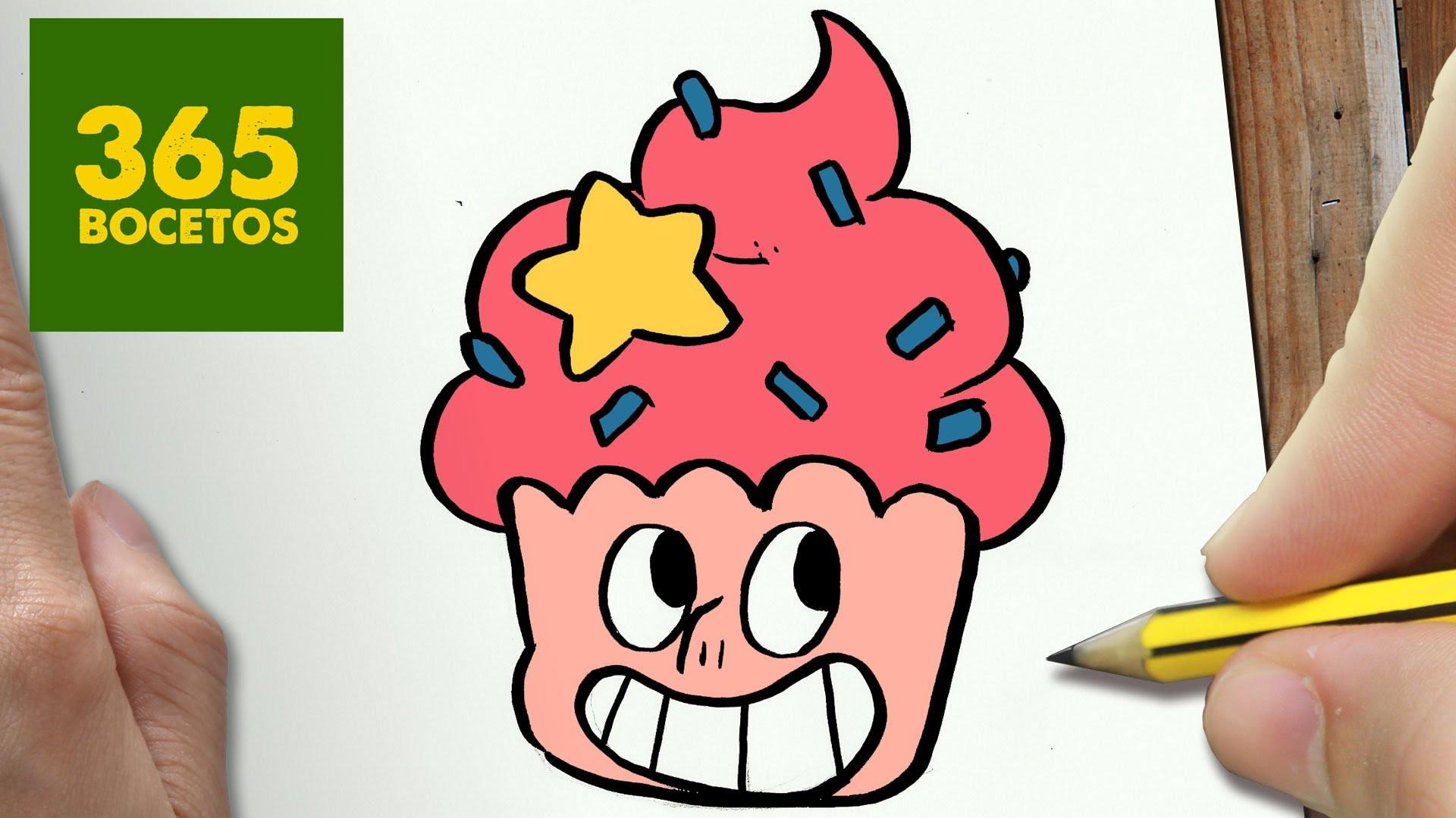 Como Dibujar Un Cuaderno Para Navidad Paso A Paso Dibujos: COMO DIBUJAR STEVEN UNIVERSE CUPCAKE PASO A PASO