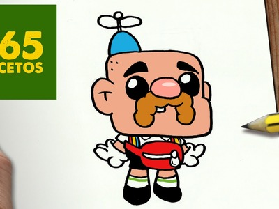 COMO DIBUJAR TÍO GRANDPA KAWAII PASO A PASO - Dibujos kawaii faciles - How to draw Uncle Grandpa