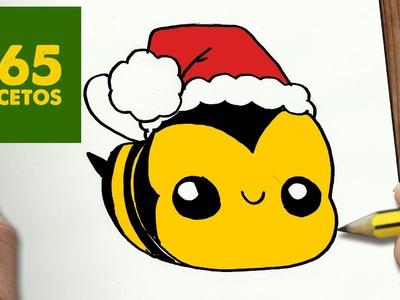 COMO DIBUJAR UN ABEJA PARA NAVIDAD PASO A PASO: Dibujos kawaii navideños - How to draw a BEE