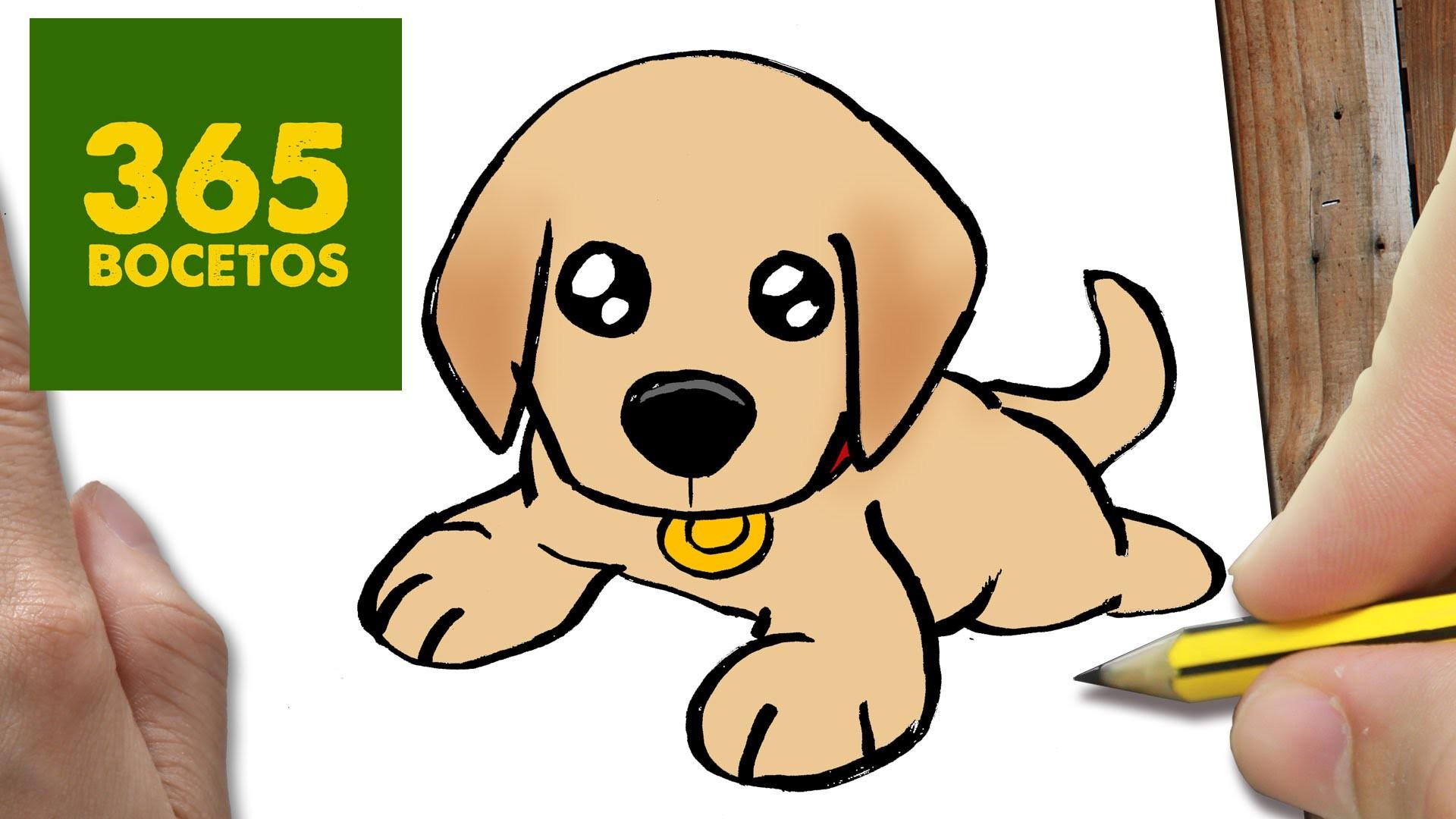 Como dibujar un perro labrador paso a paso os ense amos a for Comedor facil de dibujar