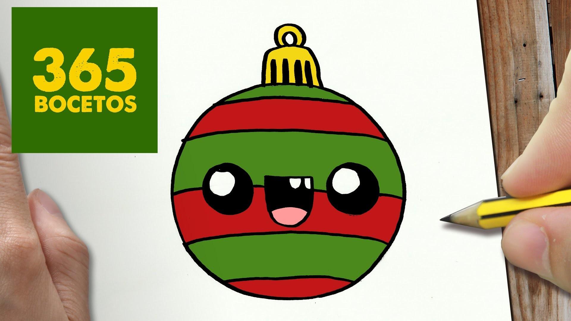 Como Dibujar Una Bola Para Navidad Paso A Paso Dibujos Kawaii