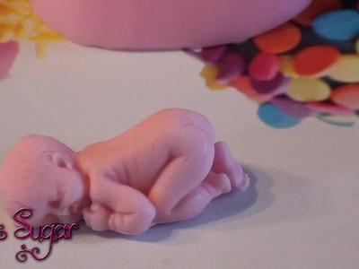 Cómo hacer un bebé de fondant