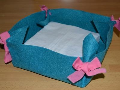 Cómo hacer un cesto de fieltro | facilisimo.com