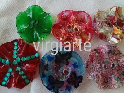 Como Hacer Vuestros Propios Botones Con Botellas de Plásticos