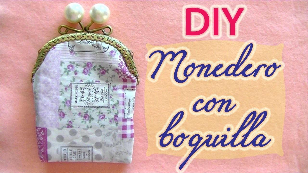 Hacer un monedero de tela con boquilla - Tutorial to make a fabric purse with metal clasp