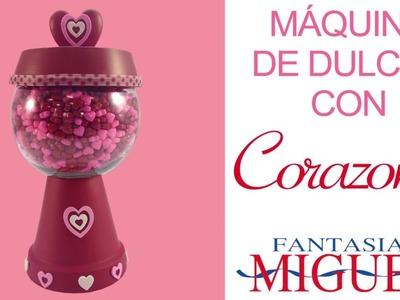 Máquina de dulces con corazones