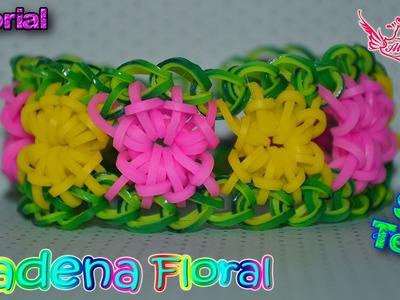 ♥ Tutorial: Pulsera Cadena floral de gomitas (sin telar)♥