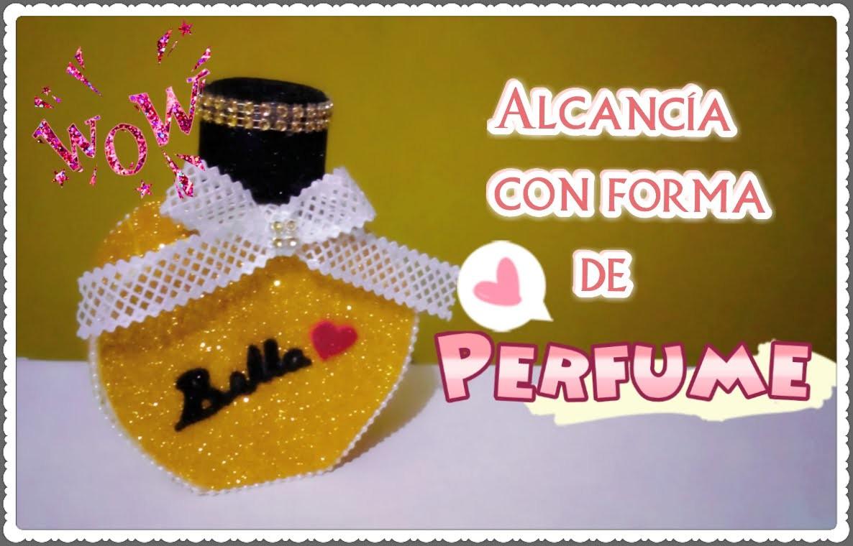 ALCANCÍA CON FORMA DE PERFUME