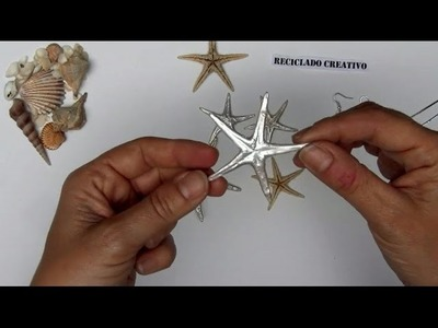 Bisutería DIY Cómo convertir unas estrellas de mar en joyas - pendientes y colgantes