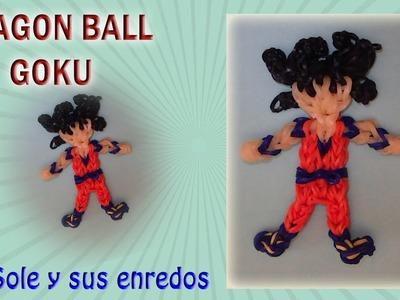 Cómo hacer a Goku de Dragon Ball, con gomitas elásticas