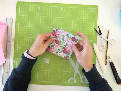 Cómo hacer un sobre forrado - TUTORIAL DIY