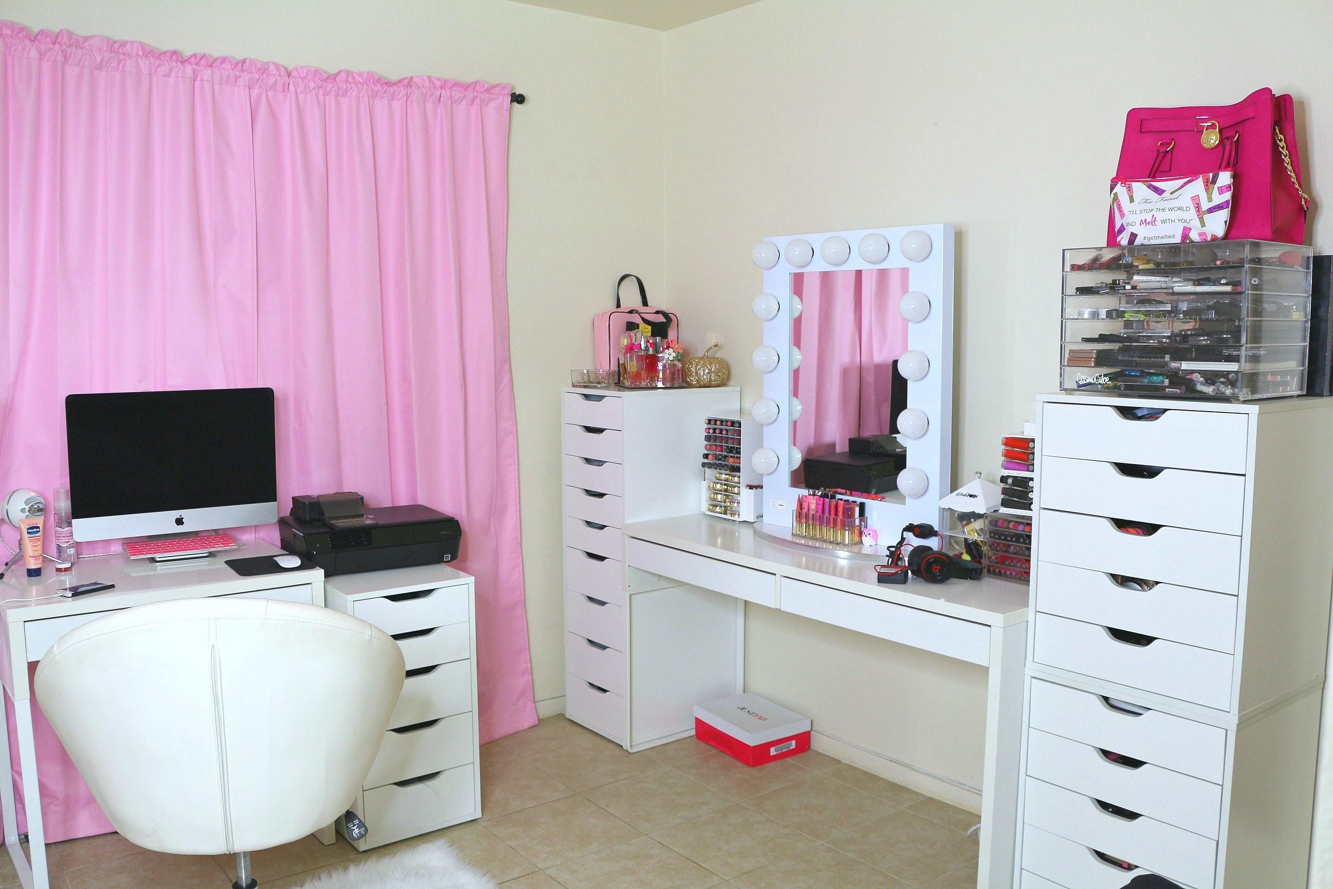 Cuarto de maquillaje estudio makeup room tour my crafts - Estudio de maquillaje ...
