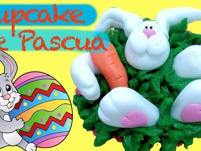 Cupcake de conejo de pascua