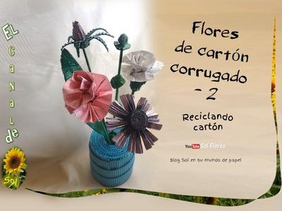 Flores de cartón corrugado   2